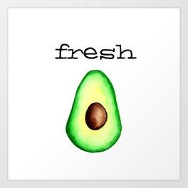 Fresh Avocado fr e sh a voca do Art Print