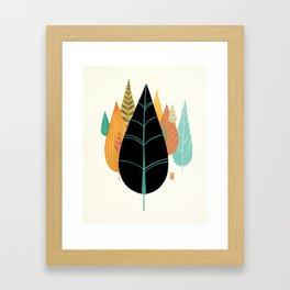 Fair Forest- Retro Orange Palette Framed Art Print