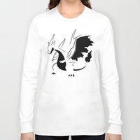 charizard Long Sleeve T-shirts featuring Charizard Mega Y by Ruo7in