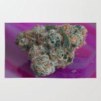 marijuana Area & Throw Rugs featuring Jenny's Kush Medicinal Marijuana by BudProducts.us