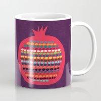 pomegranate Mugs featuring Pomegranate by Picomodi