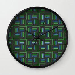 Abstract Windmills Pattern Wall Clock