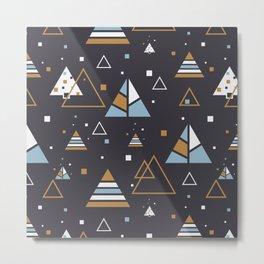Polar Trees Abstract Metal Print