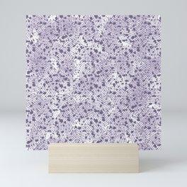 Light purple abstract splash pattern Mini Art Print