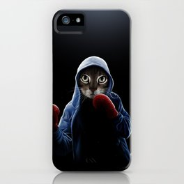 Boxing Cool Cat iPhone Case