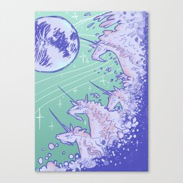 Unicorns in Seafoam Canvas Print