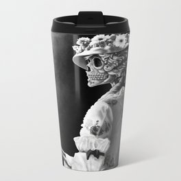 Lady Skeleton Metal Travel Mug
