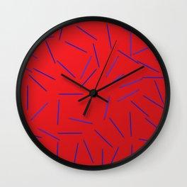 paillettes rouge blau Wall Clock