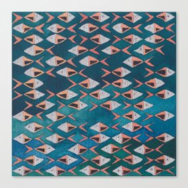 School of Fish Pattern Canvas Print