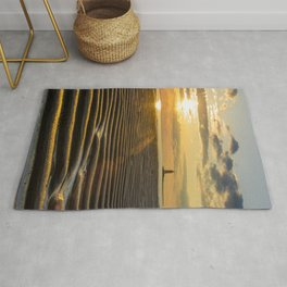 Sandbars and Sunset Coastal Nature / Landscape Photograph Rug