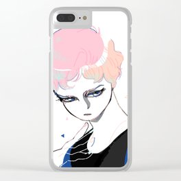 Glass Eyed Boy Clear iPhone Case