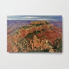 Wotan's Throne Grand Canyon North Rim Cloudy Day Metal Print