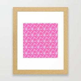 Pink Hawaiian Hibiscus Flowrs Framed Art Print