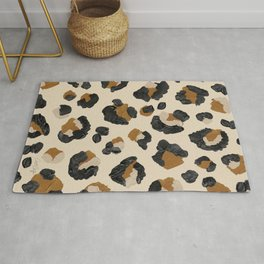 Leopard Print – Neutral Gold Light Palette Rug