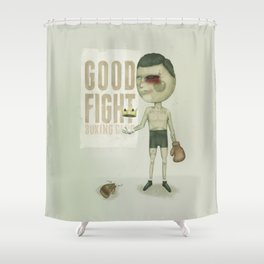 GO THE DISTANCE Shower Curtain