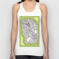 zentangle Tank Tops featuring Zentangle Halcyon by Vermont Greetings
