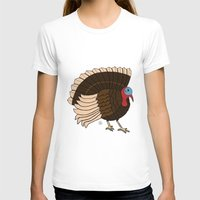 turkey T-shirts featuring Thanksgiving Turkey by Yatasi