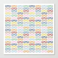 Rainbow Shutter Shades Canvas Print