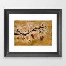 Der Liebesbaum (in Acryl) Framed Art Print