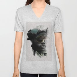 Nino Brown Unisex V-Neck