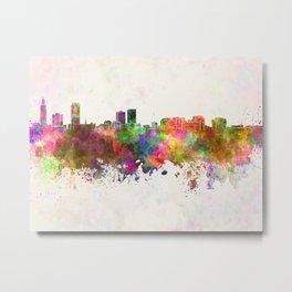 Baton Rouge skyline in watercolor background Metal Print