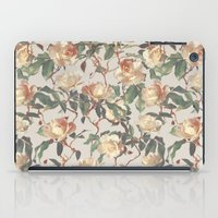 bedding iPad Cases featuring Soft Vintage Rose Pattern by micklyn