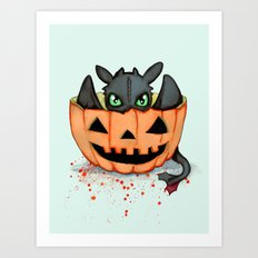 Halloween Dragon Art Print