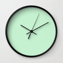 Pastel green color clear Wall Clock