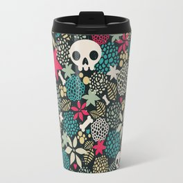 Skulls and flowers. Travel Mug