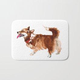 watercolor dog vol 15 corgi Bath Mat