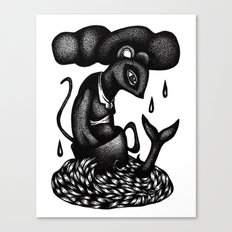 Mouse in a Teacup Canvas Print