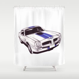 1970 Firebird Shower Curtain