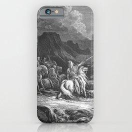 Gustave Doré - La Grande Bible de Tours (1866) 143 Judas Maccabeus Pursues Timotheus iPhone Case