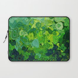 Composition #82 (shades of green) Laptop Sleeve