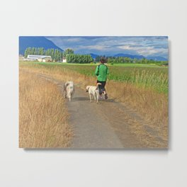Evening Exercise Metal Print