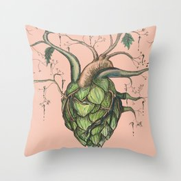 Heart Hops in Pink Throw Pillow
