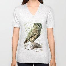Olive Owl Unisex V-Neck