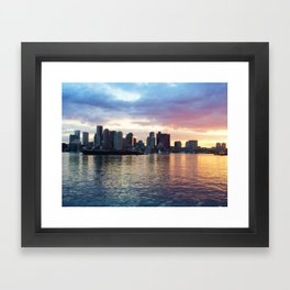 Piers Park Sunset Framed Art Print