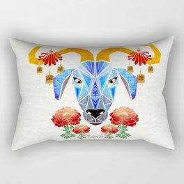 chinese goat Rectangular Pillow
