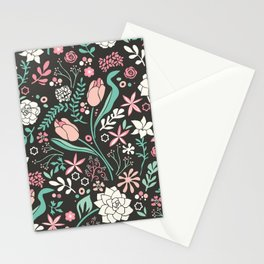 Tulip flowerbed Stationery Cards