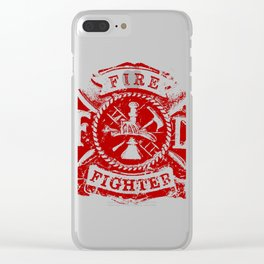 FIRE DEPARTMENT GRUNGE Clear iPhone Case