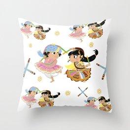 Navratri Pattern Throw Pillow