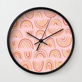 Rainbow Print Wall Clock