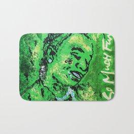 thug,so much fun,album art,cover,green,music,hiphop,rap,decor,wall art,gangsta,cool,dope,poster Bath Mat