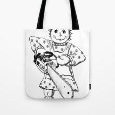 Raggedy Ann with a Chainsaw Tote Bag