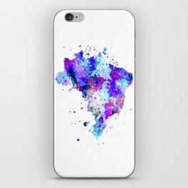 Brazil Map iPhone Skin