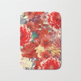 flowers 29 #flora #flowers #pattern Bath Mat