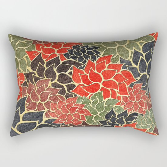 Floral Abstract 17 Rectangular Pillow