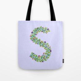 Leafy Letter S Tote Bag