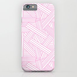 Sketchy Abstract (Pink & White Pattern) iPhone Case